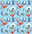 penguin wallpaper vector image