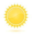 sun weather forecast glossy icon vector image