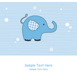 elephant blue vector image