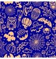 vintage Halloween seamless vector image vector image