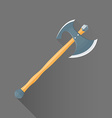 flat style medieval battle double ax icon vector image