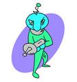 alien invader vector image