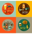 Backgrounds with beer icons and objects in flat vector image