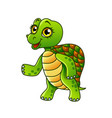cartoon turtle isolated vector image