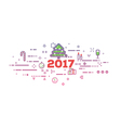 New 2017 year vector image