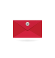 Red email envelope vector image
