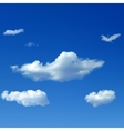 Sky background with clouds vector image