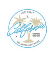 west coast california long beach t-shirt vector image