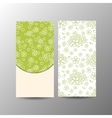 Vertical floral banner template vector image