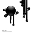 abstract ink vector image