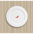 Dinner plate on bamboo napkin vector image