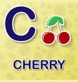 cherry alphabet background vector image