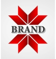 Abstract corporate logo design vector image