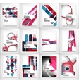 Geometric abstract business template vector image