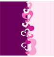 Heart Valentines Day background or card vector image