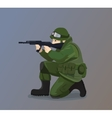 Soldier Holding A Gun vector image