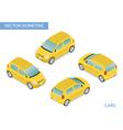 Yellow isometric hatchback vector image