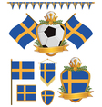 sweden flags vector image vector image