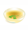 broth on white background vector image