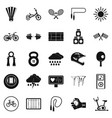 cycling icons set simple style vector image
