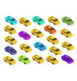 Flat 3d Isometric Car Taxi vector image