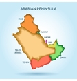 Gulf countries new map Arabian Peninsula vector image