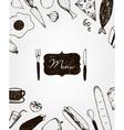 hand drawn restaurant vector image