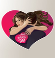 Hugging pair vector image