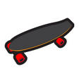 isolated skateboard toy vector image