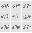 line book icon set vector image