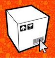 Logistic box icon vector image