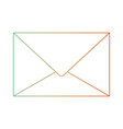 paper envelope icon in degraded green to red color vector image