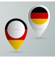 paper of map marker for maps germany vector image