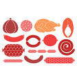 Sausage Meat vector image