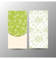 Vertical floral banner template vector image