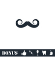Whiskers icon flat vector image