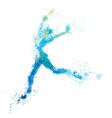 woman jump splash vector image