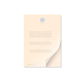 Document isolated on white vector image vector image