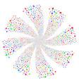 baht fireworks swirl flower vector image