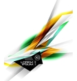 Hi-tech colorful futuristic lines vector image