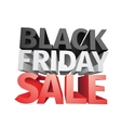 3D big friday sale text isolated on white vector image