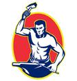 blacksmith retro symbol vector image