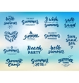 Summer hand drawn brush letterings vector image vector image
