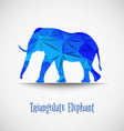 blue triangulate elephant vector image