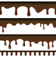 Chocolate seamless drips background vector image