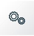 cogwheel outline symbol premium quality isolated vector image