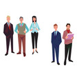 group of office workers employees managers vector image
