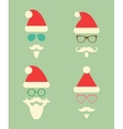 Santa Claus Fashion Silhouette Hipster Style Icons vector image