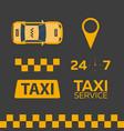 set of taxi service taxi car flat vector image