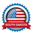 South Dakota and USA flag badge vector image